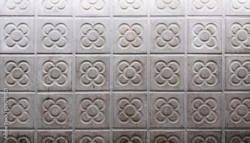 typical modernist tile from Barcelona