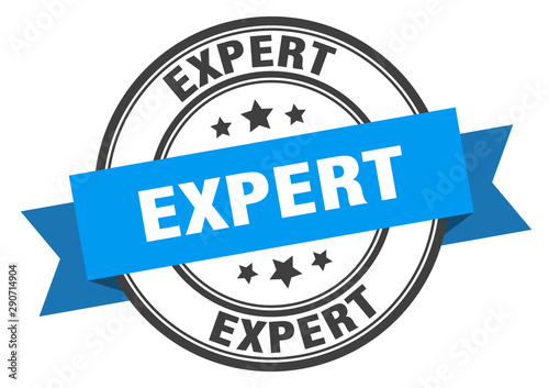 expert label. expert blue band sign. expert