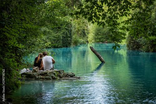Colle Val d'Elsa, Elsa River park, Tuscany Canvas Print