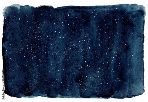 Watercolor dark navy background Canvas-taulu