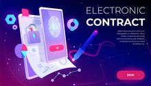 Electronic Contract Web Banner...