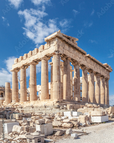 Ruins of the Temple Parthenon at the Acropolis. Athens, Greece. Wallpaper Mural