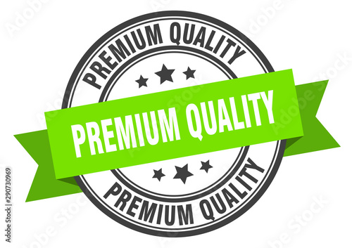 premium quality label Canvas Print