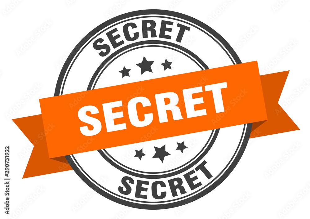 Fototapeta secret label. secret orange band sign. secret