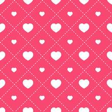 Hearts Seamless Pattern. Vecto...