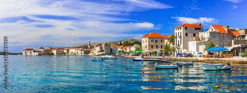 Travel in Croatia. Traditional coastal village Kastela, Kastel Novi , Dalmatia