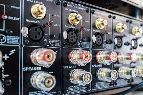 Audio Video AV Connectors Panel Wallpaper Mural