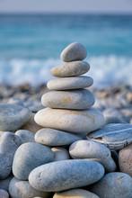 Zen Balanced Stones Stack On B...