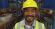 Portraitr of a male worker in a warehouse