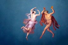 Graceful Fresco From Palazzo Dei Normanni, Palermo. Painted By Giuseppe Patania In The Sala Pompeiana Around 1830.