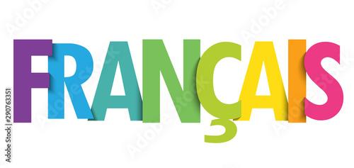 Fototapeta Bannière typographique vecteur FRANCAIS