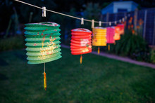 Colorful Lantern Being Displayed During Mid Autumn Festival