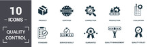 Quality Control Icon Set. Cont...