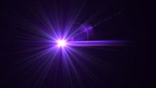 Bright Purple Lens Flare
