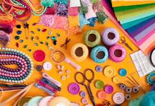 Diy Craft Supplies Top View, Frame For Design