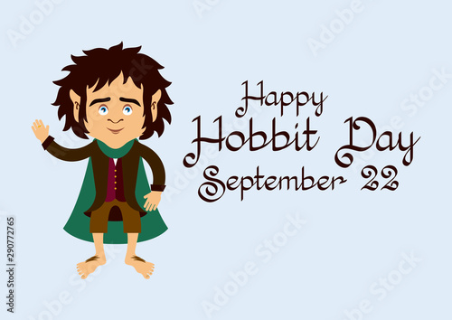 Obraz na plátně  Hobbit Day vector
