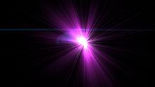 Bright Magenta Lens Flare