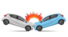 Illustration Material: Car Collision Accident