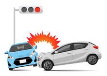 Illustration Material: Car, Collision Accident