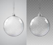Glass Transparent Christmas Ba...