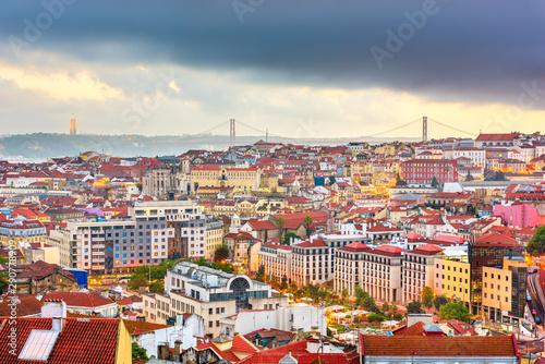 Fotomural  Lisbon, Portugal skyline