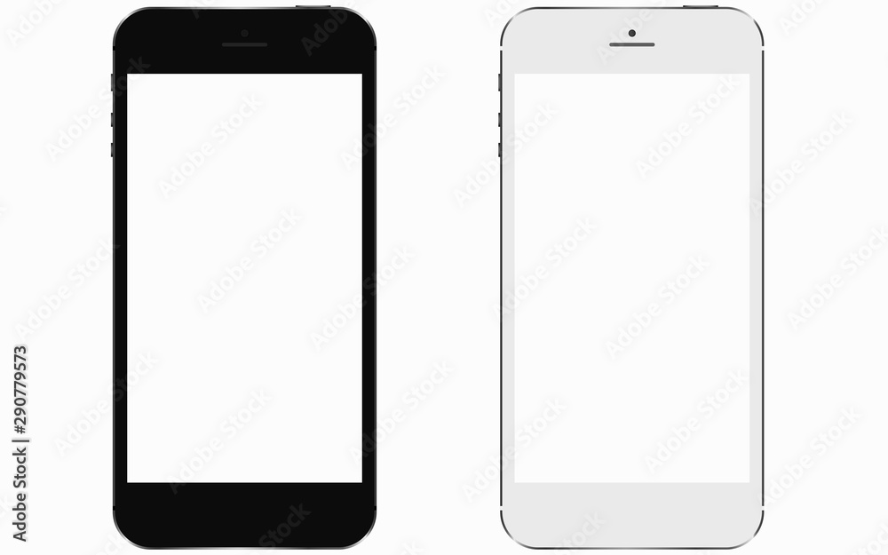 Fototapety, obrazy: 2 smartphones with blank screen