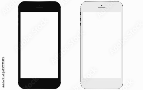 Fotografia  2 smartphones with blank screen