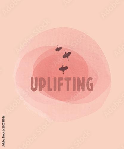 Uplifting pink illustration Wallpaper Mural