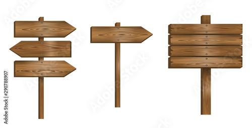 Fotomural  set wooden sign vector