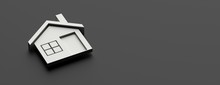 House Icon Silver Gray Color O...