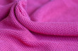 canvas print picture - Pink woolen fabric cloth background