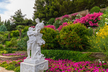 Beautiful Embankment With Garden Sculpture In The Village Of Partenit In Crimea