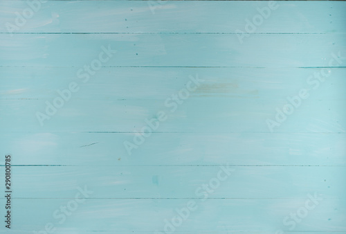 Photo Blue faded wood texture background, wooden table top view