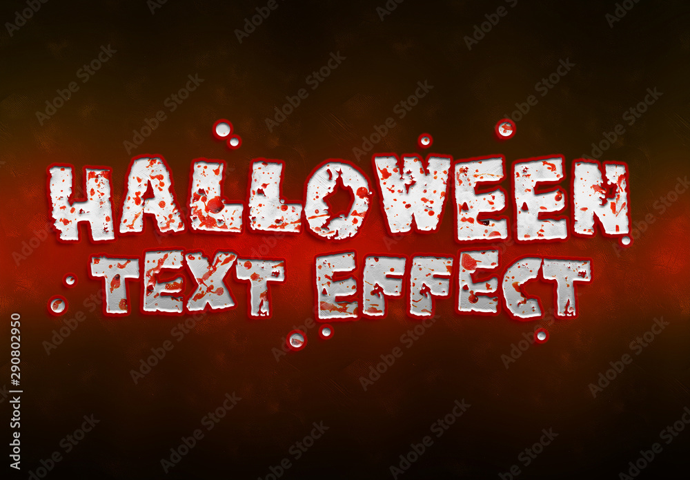 Fototapety, obrazy: Halloween Bloody Text Effect Mockup