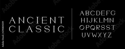 Fotomural  Classic white alphabet
