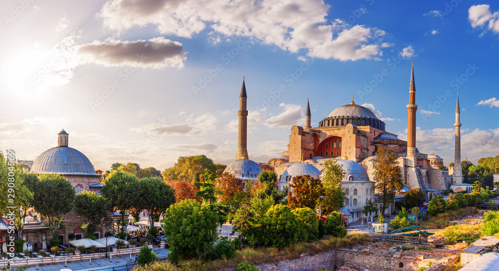 Fototapeta Beautiful panorama of Hagia Sophia, Istanbul, Turkey