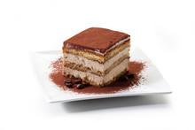 Tiramisu - Coffee-flavoured Italian Dessert. It Is Made Of Ladyfingers (savoiardi) Dipped In Coffee