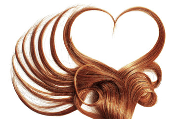 Henna hair in shape of hear...