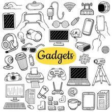 Big Collection Of Gadgets Elem...