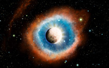 Yin And Yang Concept Design With The Moon And Sun Surrounded By Stars Around The Galaxy