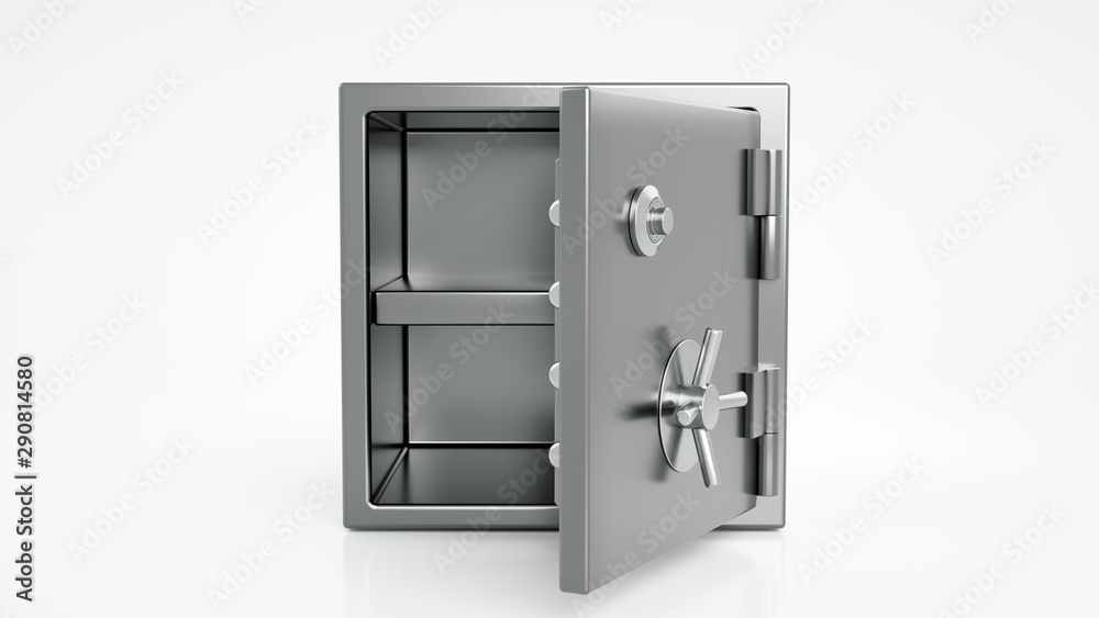 Fototapety, obrazy: Security Metal Safe With Empty Space Inside - 3D Illustration