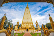 Leinwanddruck Bild - Wat Phra That Nong Bua is a Dhammyuttika temple, one of important temples in Ubon Ratchathani. The highlight of this place is Sri Maha Pho Chedi, in day time