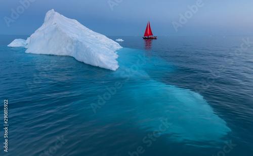 Valokuva Beautiful landscape in Disko bay, Ilulissat, Greenland