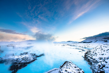 Blue Lagoon hot spring spa Iceland