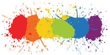 Color Paint Splash - Gay Pride