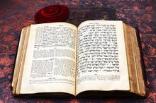 Jewish Bible. An Open Old Jewi...