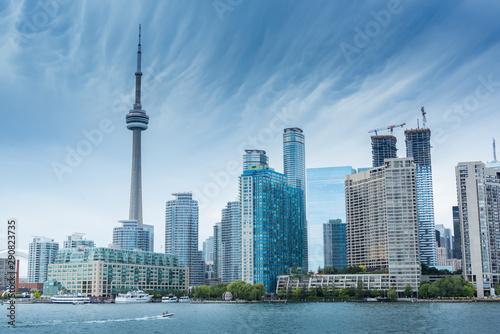 Obraz na plátně Toronto city skyline in the summer, Toronto, Canada