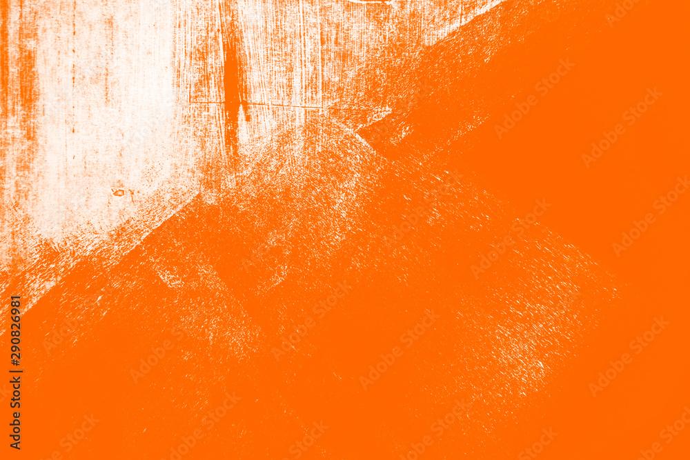 Fototapeta orange white paint brush strokes background
