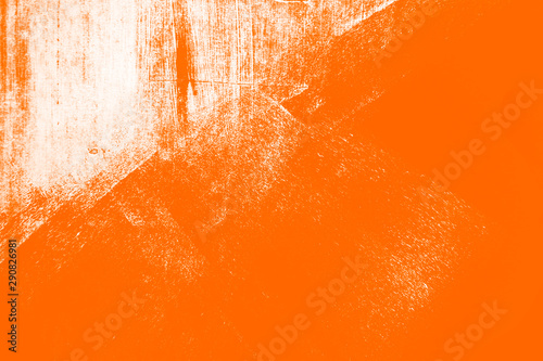 orange white paint brush strokes background	 - 290826981