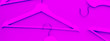 canvas print picture - Wooden hangers toned neon color